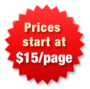 Prices start from $10/page